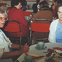 Margaret Neville (left) and Iris Brett.   Geoff Webb