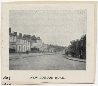 An old photo of Thomas Telford's London Road