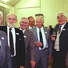 Left to right: 'Snowy' Nunn, Ken Mimer, Ralph Reading, John Catlin, John Dunckley, Charlie Collett, Ray Webb | Geoff Webb