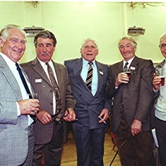 Left to right: John Dunckley, Ray Webb, 'Snowy' Nunn, Frank Dunckley, John Marshall | Geoff Webb