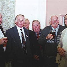 Left to right: Mick O'Hara, Pat O'Connor, Maurice Webb, Francis and 'Jippy' O'Hara, and Fred Peacock | Geoff Webb
