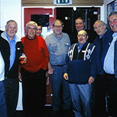 Left to right: George Braddon, Mick Day, Terry O'Dell, Mick Smith, Brian Cowland, Roy Flitton (rear), Dennis Chapman, Tom Day, Fred Rolph. | Geoff Webb