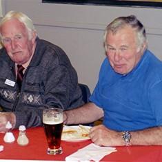 'Jippy' O'Hara (left) and Reg Stevens. | Dennis Bigham