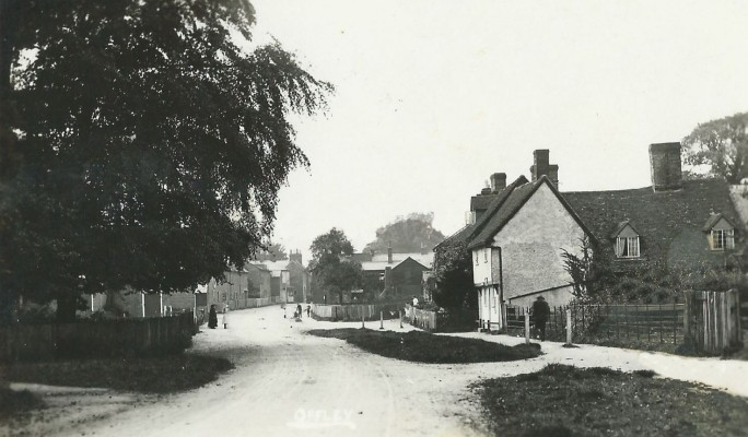 A view of Offley from a postcard posted in 1932