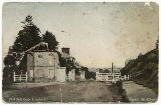A Turnpike Toll House and gate sited at the junction of Telford's London Road and the Old Road