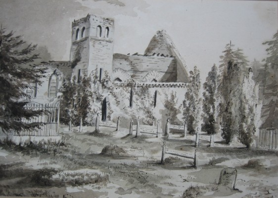 The third church around 1877, following the fire in 1874