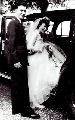Harry and Iris setting off on honeymoon | Geoff Webb