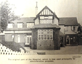 Original part of the hospital | Herts and Essex Observer 20 May 1933, page 7