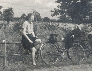Olive with her bike