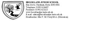 School Badge and details   Brookland School