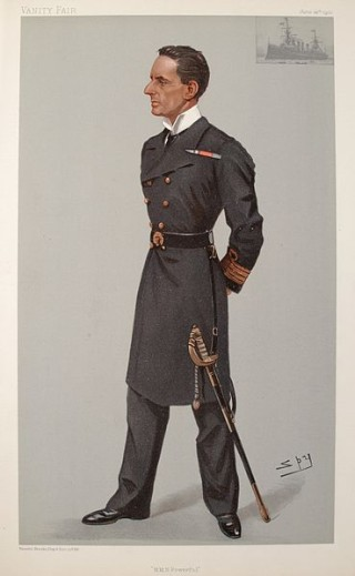 Caricature of Captain Hedworth Lambton (Meux) in Vanity Fair 1900 | Public Domain