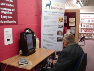 A visitor recording his memories of Hoddesdon | Hoddesdon Library