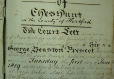 Court Leet of the Manor of Cheshunt