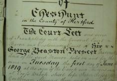 Court Leet of the Manor of Cheshunt