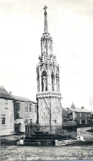 Eleanor Cross 1910   Hertfordshire Archives & Local Studies