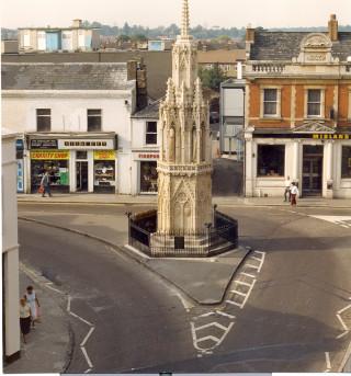 Eleanor Cross before pedestrianisation | Hertfordshire Archives & Local Studies