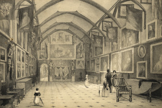 The banquetting hall in the 19th century | Hertfordshire Archives and Local Studies (D/EHw/Z8)
