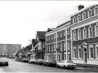 Montagu House, McAdam's home in Hoddesdon, is now the Lloyds' Bank | Hertfordshire Archives & Local Studies