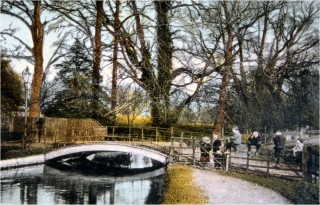 Hand coloured photograph of the bridge at Admirals Walk | G Bryant