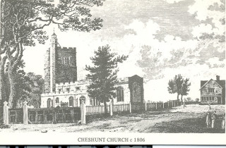 Drawing of Cheshunt Church, 1806 | Hertfordshire Archives & Local Studies