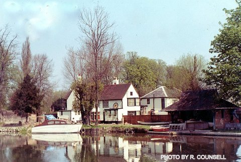 The Rye House from the River Lea (probably 1969-1971) | Reg Counsell