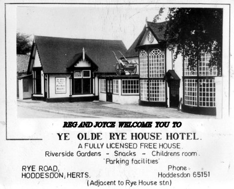 The Rye House while Reg was the licensee | Reg Counsell