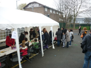 Arts and crafts stall.
