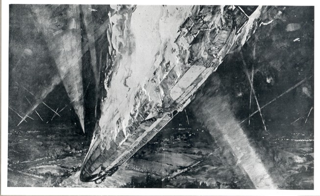 The burning zeppelin