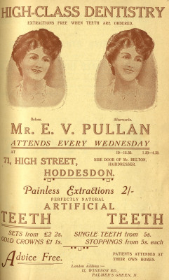 False teeth 1916 style | Herts Archives & Local Studies directory