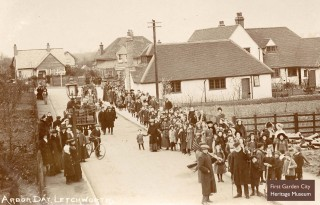 Arbor Day procession, 8th March 1913 | First Garden City Heritage Museum