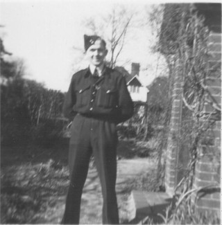 Tom Walker - Police Cadet outside 1, Hitchin Road, Letchworth (1953) | Unknown
