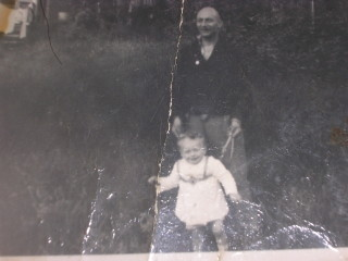 Doug and Me, back garden of 22 Bedford Road 1954? | Mark Gifford