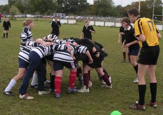 Letchworth girls v. Milton Keynes, 10th October 2004; John Birch refereeing | Mike Alcock 2004