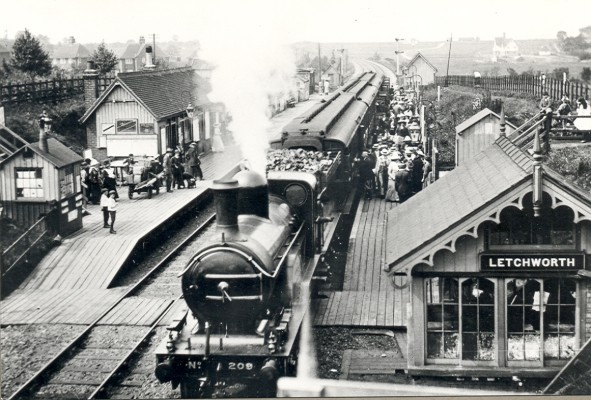 First Letchworth Station, pre 1912