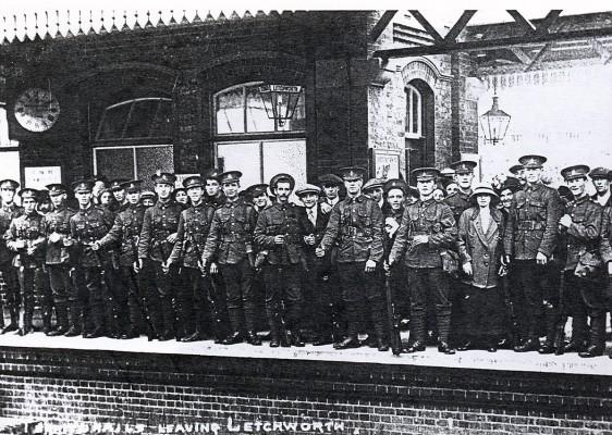 Troops leaving circa 1914