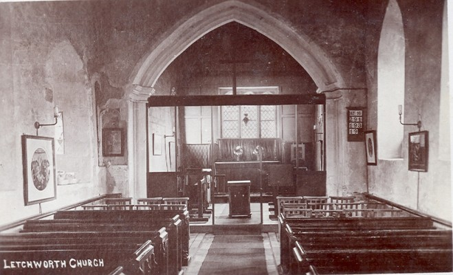 The Inside of Letchworth Church   Hertfordshire Archives and Local Studies