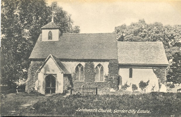 The Outside of Letchworth Church   Hertfordshire Archives and Local Studies
