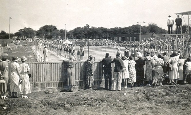 The opening of the Letchworth Lido 1935 | Peter Moyse