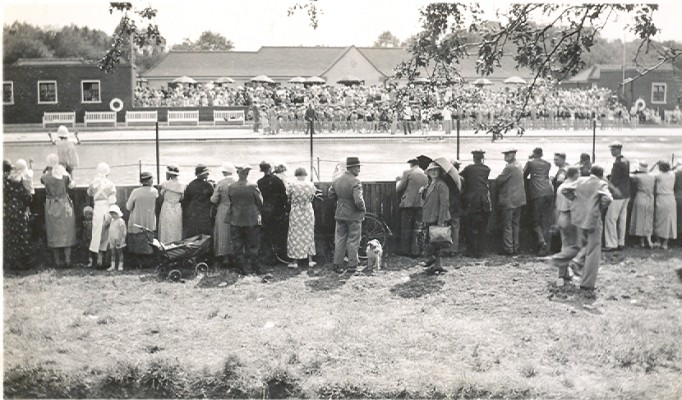 The opening of Letchworth Lido 1935   Peter Moyse