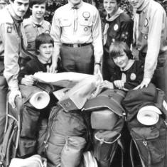 North Herts Scout Jamboree Contingent 1980