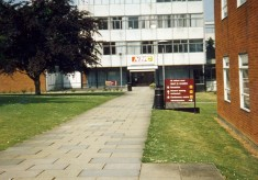 North Hertfordshire College Letchworth campus before it became the Goldsmith Centre and Morrisons Supermarket on  Broadway