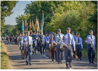 A procession was held to mark the 100th anniversary of a fatal plane crash. | Photo courtesy of Letchworth Garden City Heritage Foundation
