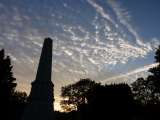 A late July sky with the War Memorial silhouetted in the foreground. | © Richard Brockbank 2010
