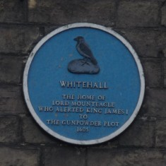 WHITEHALL: The home of Lord Mounteagle. The original house was burnt down and No 5 London Road is all that survives. Mounteagle had to ride overnight to London, down what was then an open pathway, to warn the king of the Gunpowder Plot. Today we still celebrate the capture of a C17th terrorist by using the same materials! | Tim Shepherd