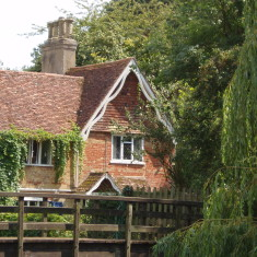 Footbridge and cottage by Amwell Pool | I. Fisher