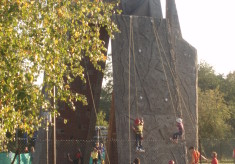 Climbing walls at Phasels Wood
