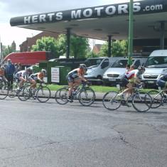 Riders Approaching Fourways, Hoddesdon   Nicholas Blatchley
