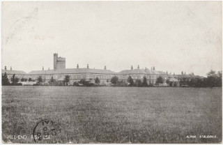 Postcard by Alpha of St Albans showing Hill End Hospital. Postmarked October 14th, 1904. | Copyright St Albans Museums