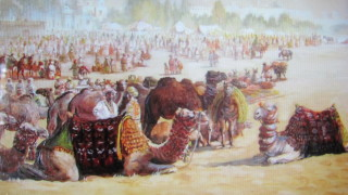 Painting of the old silk routes (unattributed)