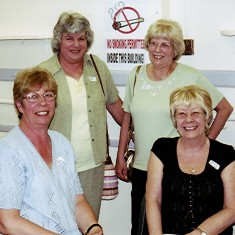 Left to right: Gill Palmer, Daphne and Doreen Herring, Christine Dickinson. | Geoff Webb